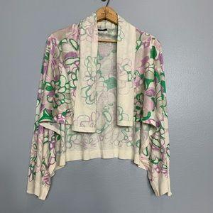 ELIE TAHARI | silk cashmere cardigan sweater Xs/s